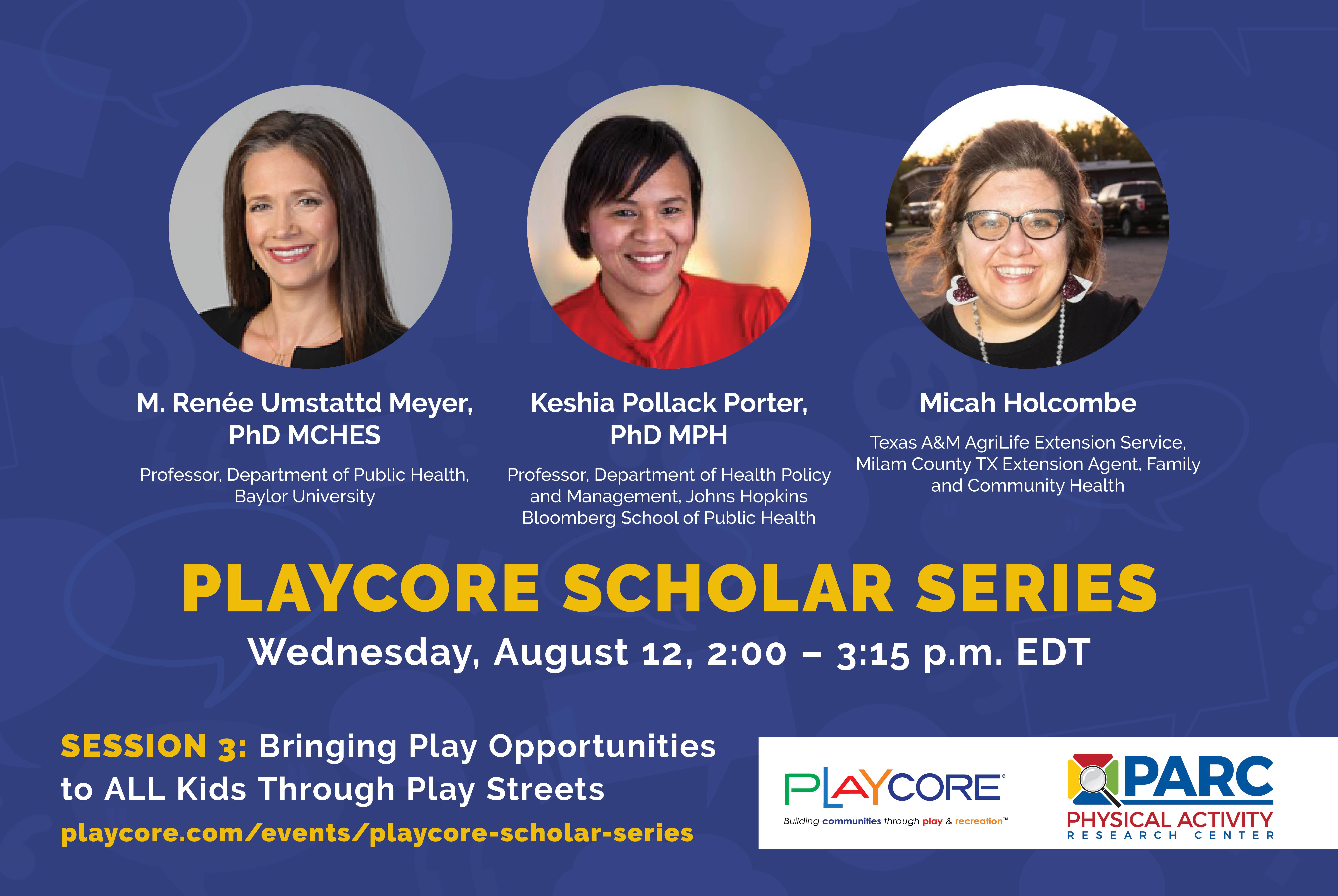 PlayCore Scholar Series - Banner - Session 3