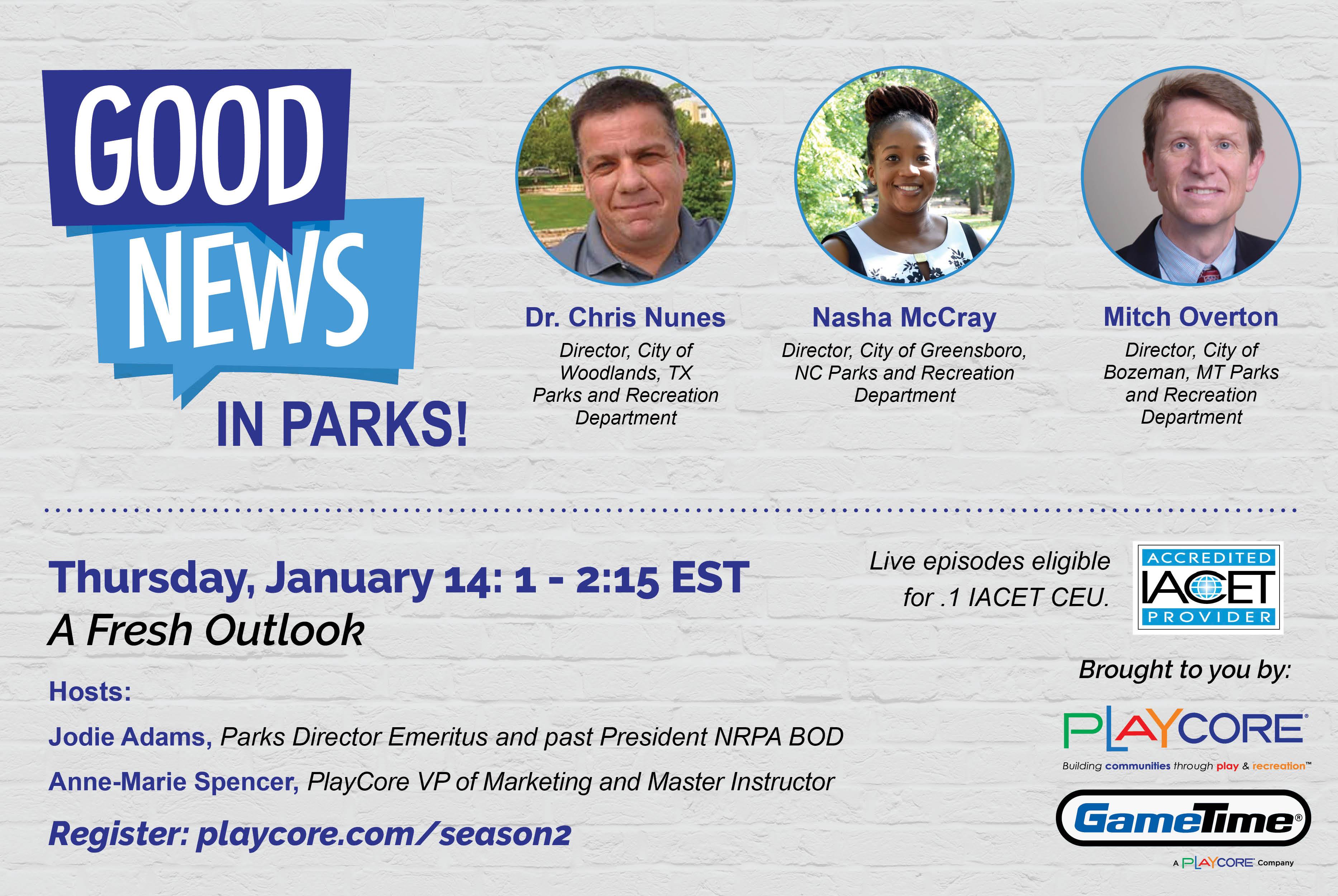 Good News in Parks - Season 2 - Banner Image - Episode 1